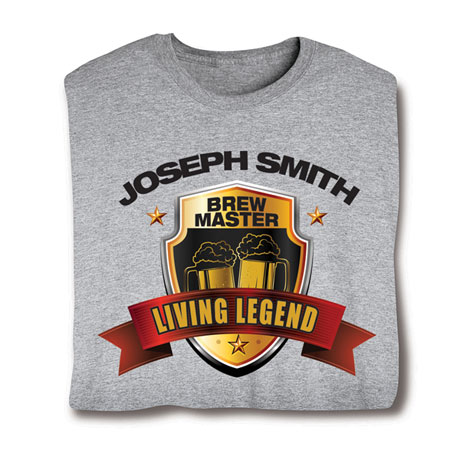 """Personalized """"Your Name"""" Living Legend Series - Brew Master Tee"""