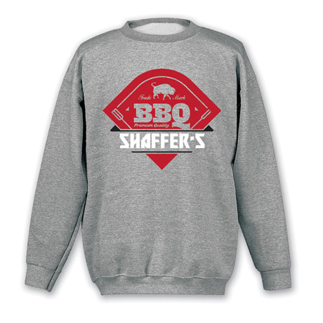 """Personalized """"Your Name"""" Premium Quality BBQ Tee"""