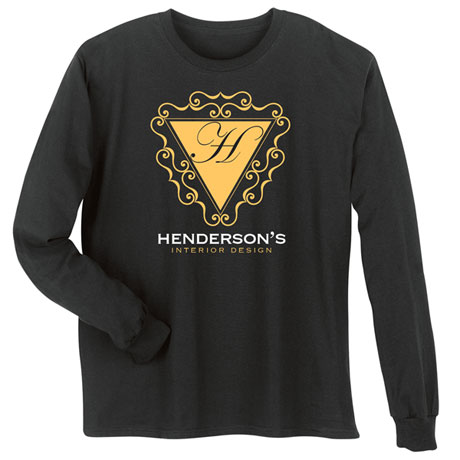 """Personalized """"Your Name"""" Scrollwork Interior Design Tee"""