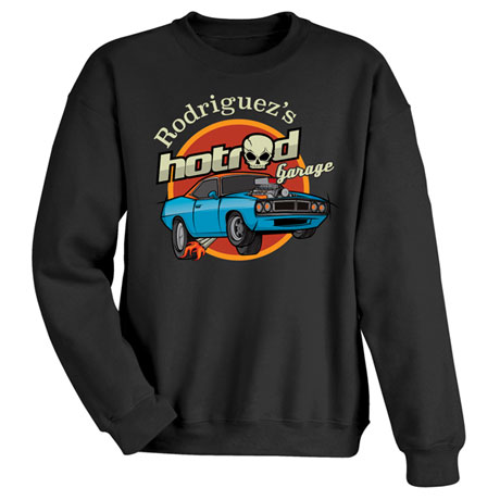 """Personalized """"Your Name"""" Classic Hot Rod Tee"""