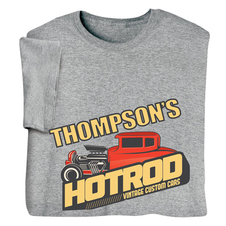 """Personalized """"Your Name"""" Vintage Custom Cars Tee"""