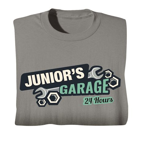 """Personalized """"Your Name"""" 24-Hour Garage Tee"""