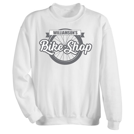 "Personalized ""Your Name"" Bicycle Shop Tee"