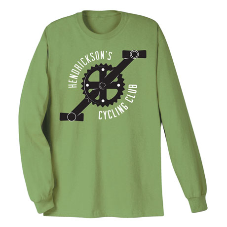 """Personalized """"Your Name"""" Cycling Club Tee"""