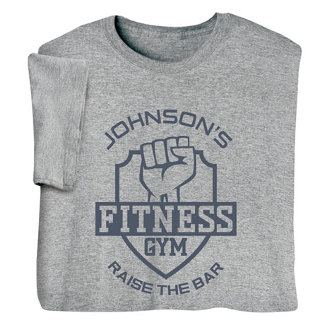 "Personalized ""Your Name"" Fitness Gym Tee"