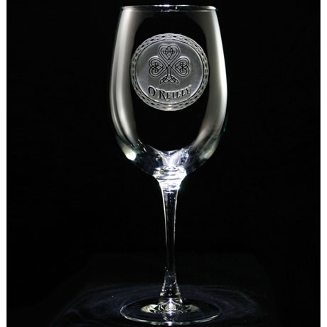 Personalized Irish Pride Wine Glass
