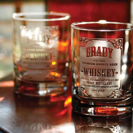 Personalized Whiskey Label Whiskey Glasses - Set of 2