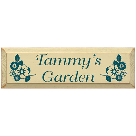 Personalized Floral Garden Sign with Stake