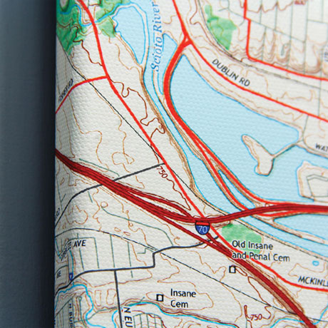 Personalized USGS Map Gallery Canvas