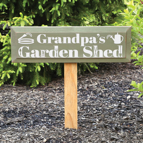 Personalized Garden Shed Sign with Stake