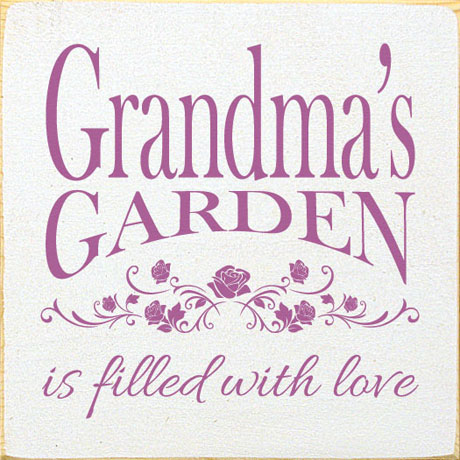 Personalized Filled with Love Garden Sign with Stake