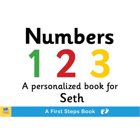 Personalized Learn Your Numbers Toddler Board Book