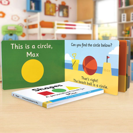 Personalized Learn Your Shapes Toddler Board Book