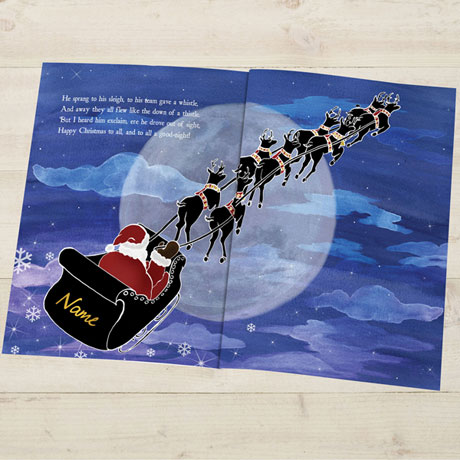 Personalized 'Twas the Night Before Christmas Children's Book