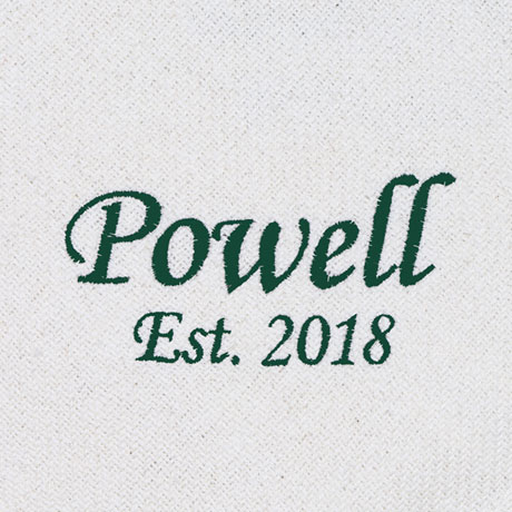 Personalized Family Name Ivory Throw Blanket