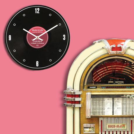 Personalized Genuine LP Record Clock