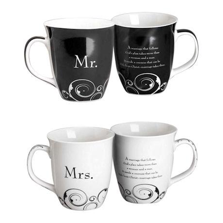 Mr. & Mrs. Stoneware Mug Set