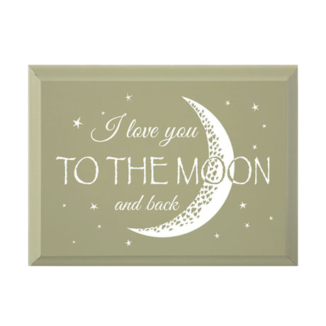 I Love You to the Moon and Back Wood Plaque