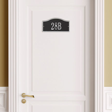 "Whitehall Personalized Cast Metal Address Plaque - 12"" x 6"" - Allows Special Characters"