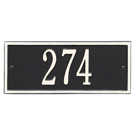 "Whitehall Personalized Cast Metal Address Plaque - 10.5"" x 4.25"" - Allows Special Characters"