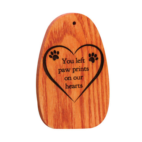 "Amazing Grace Woodstock Chimes - Engraved Pet Memorial ""You left paw prints..."""
