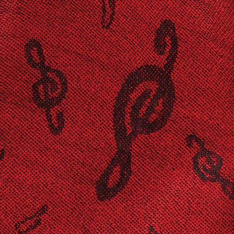 Treble Clef Pashmina - Red