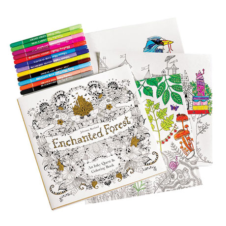Inky Quest Coloring Books - Enchanted Forest