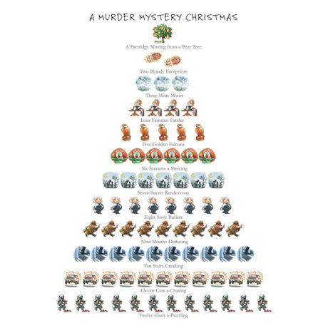 A Murder Mystery Christmas Cards