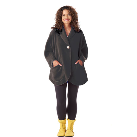 Fleece Pocket Cape - Black