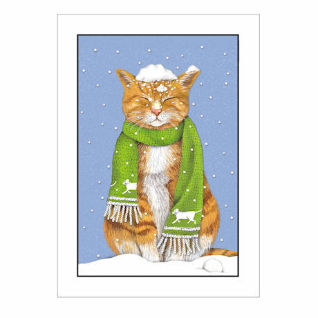 Tabby in Snow Holiday Cards