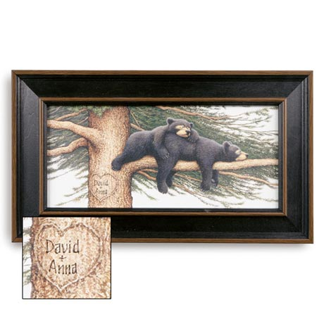 Personalized Cozy Bear Print