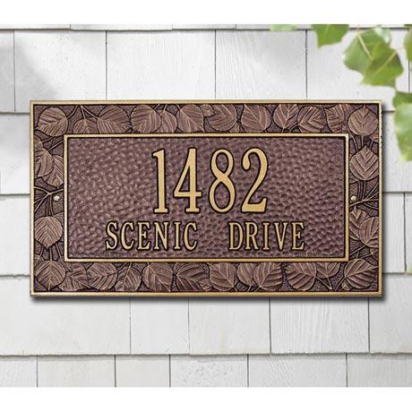 Personalized Address Plaque - Aspen Wall Plaque