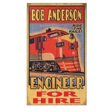 Personalized Train Engineer Sign