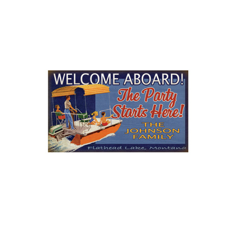 Personalized Welcome Aboard! Signs