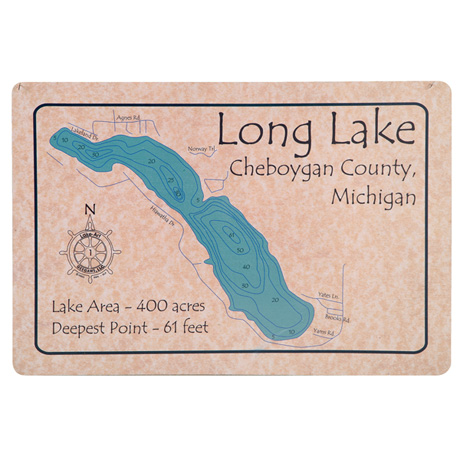 Personalized Lake Doormat