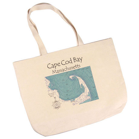 Personalized Lake Art Canvas Tote Bag