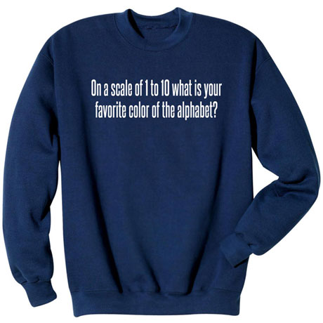 Favorite Color of the Alphabet Sweatshirt