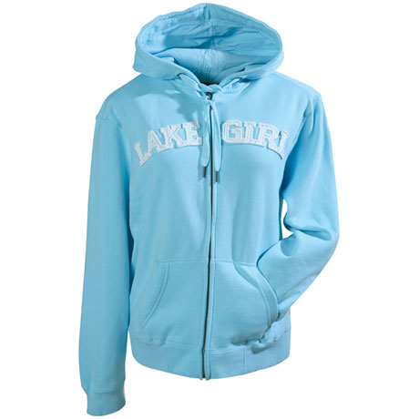 Lake Girl Hooded Sweatshirt for Women with Zip Front