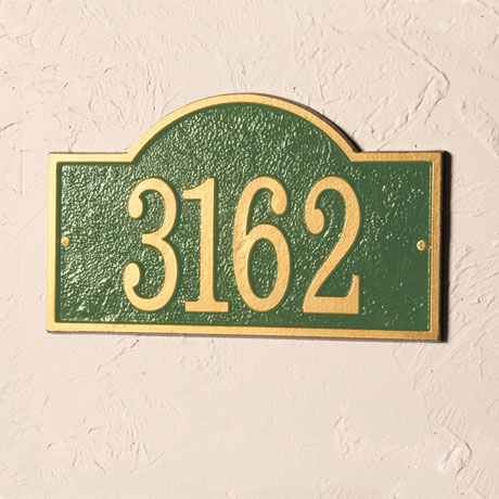 Personalized Arch House Number Plaque