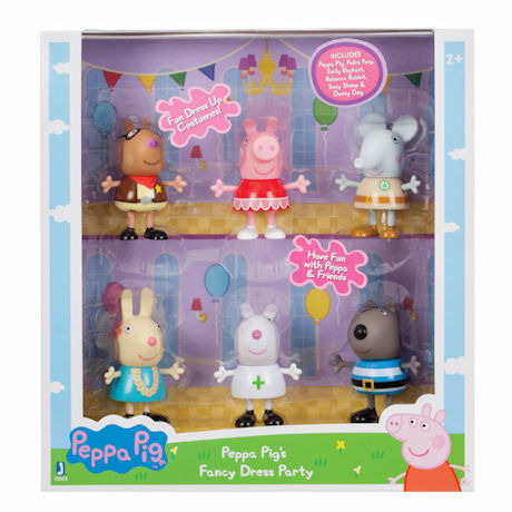 Peppa Pig Figurines - Fancy Dress Party - 6 Pack