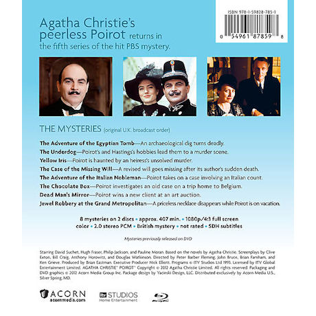 Agatha Christie's Poirot: Series: 5 DVD & Blu-ray