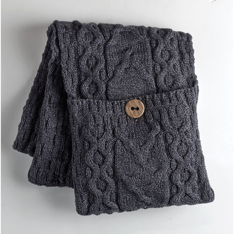 Galway Bay Wool Pocket Scarf