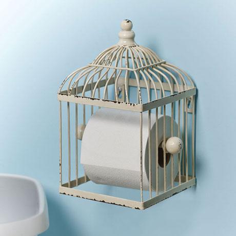 Bird Cage Toilet Paper Holder