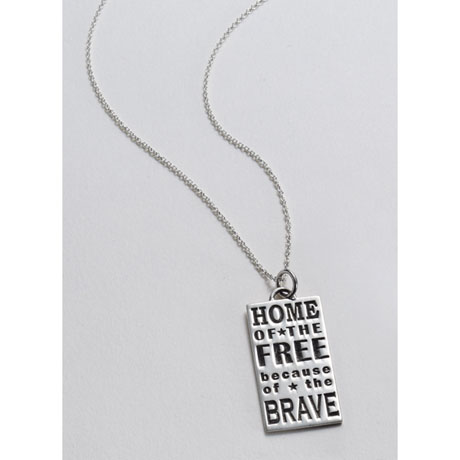 Home of the Free Because of the Brave Necklace