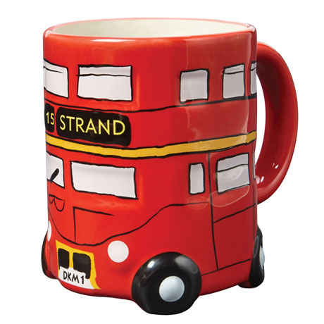 Double-Decker Bus Ceramic Mug