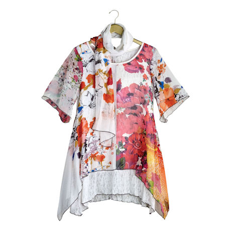 Dreamy Garden Tunic and Scarf