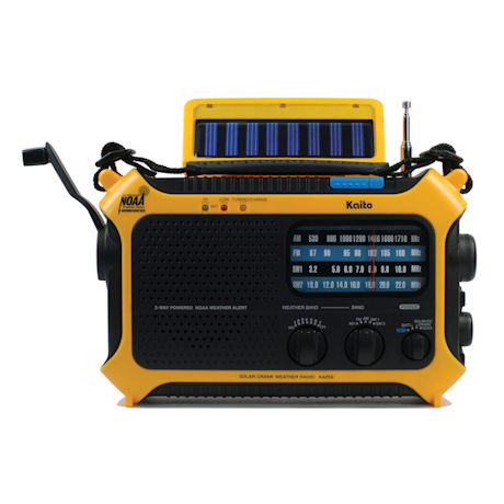KAITO KA550 Solar-Powered Emergency Radio: Yellow