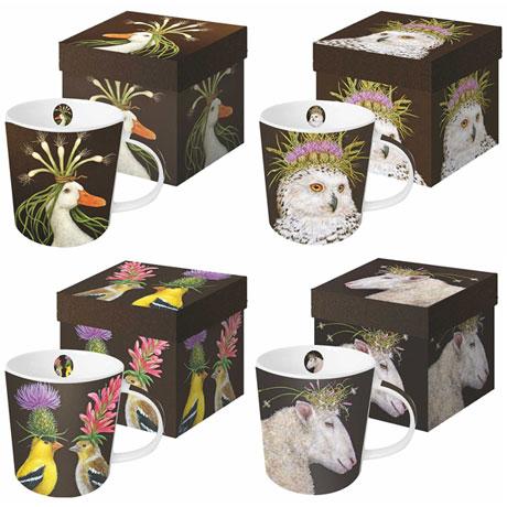 Wild & Wooly Mugs Set of 4
