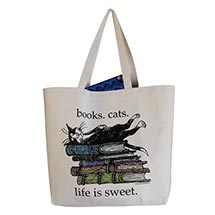 EDWARD GOREY LIFE IS SWEET TOTE