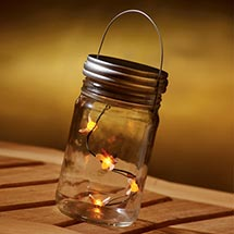 LIGHTED FIREFLIES IN A JAR